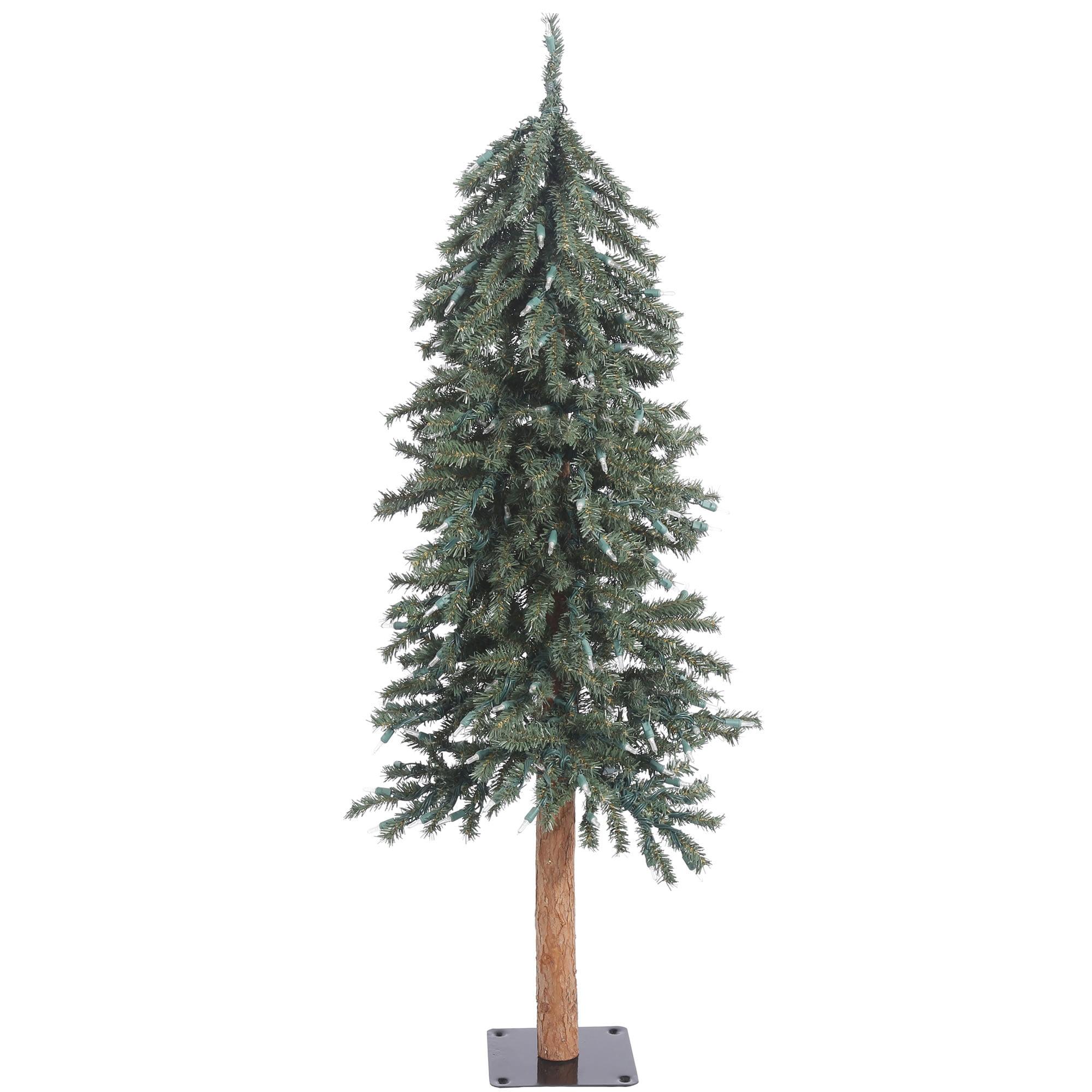 Vickerman Artificial Christmas Tree 2', 3', 4' Natural Bark Alpine Tree Set of 3