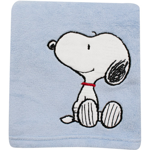 Bedtime Originals by Lambs & Ivy - Hip Hop Snoopy Crib Blanket, Blue
