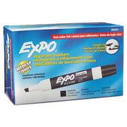 EXPO Low Odor Dry Erase Marker, Chisel Tip, Black, Dozen