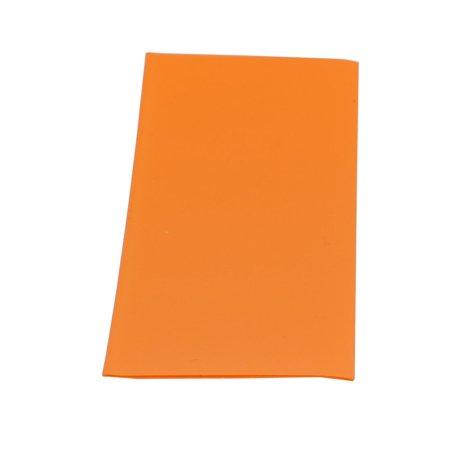 10pcs 23mm Width 53mm Long PVC Heat Shrinkable Tube Orange for AA Battery Pack - image 2 de 3