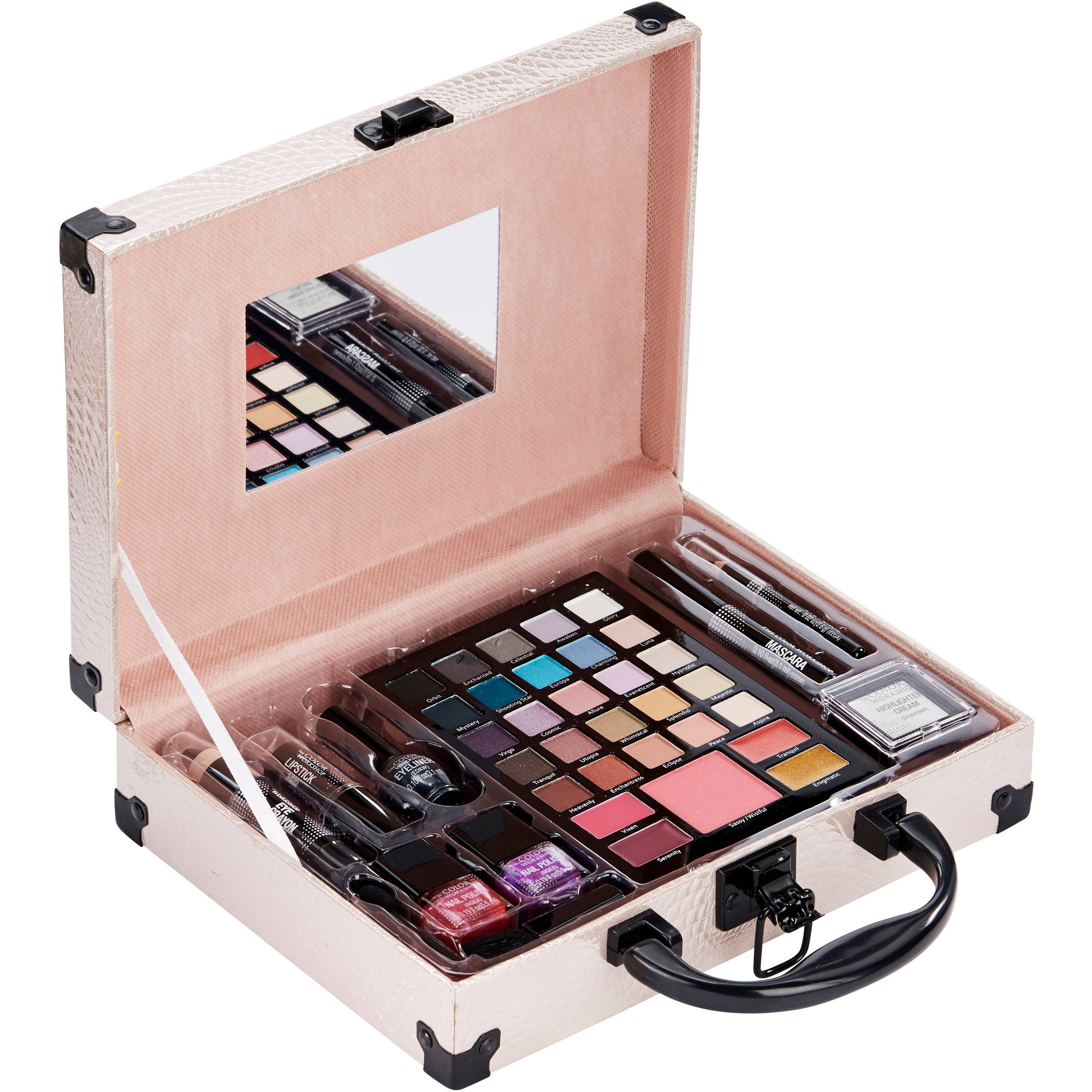 Game nail color workshop - The Color Workshop Beautiful You Pink Makeup Case Collection Variety Pack 41 Pc Walmart Com