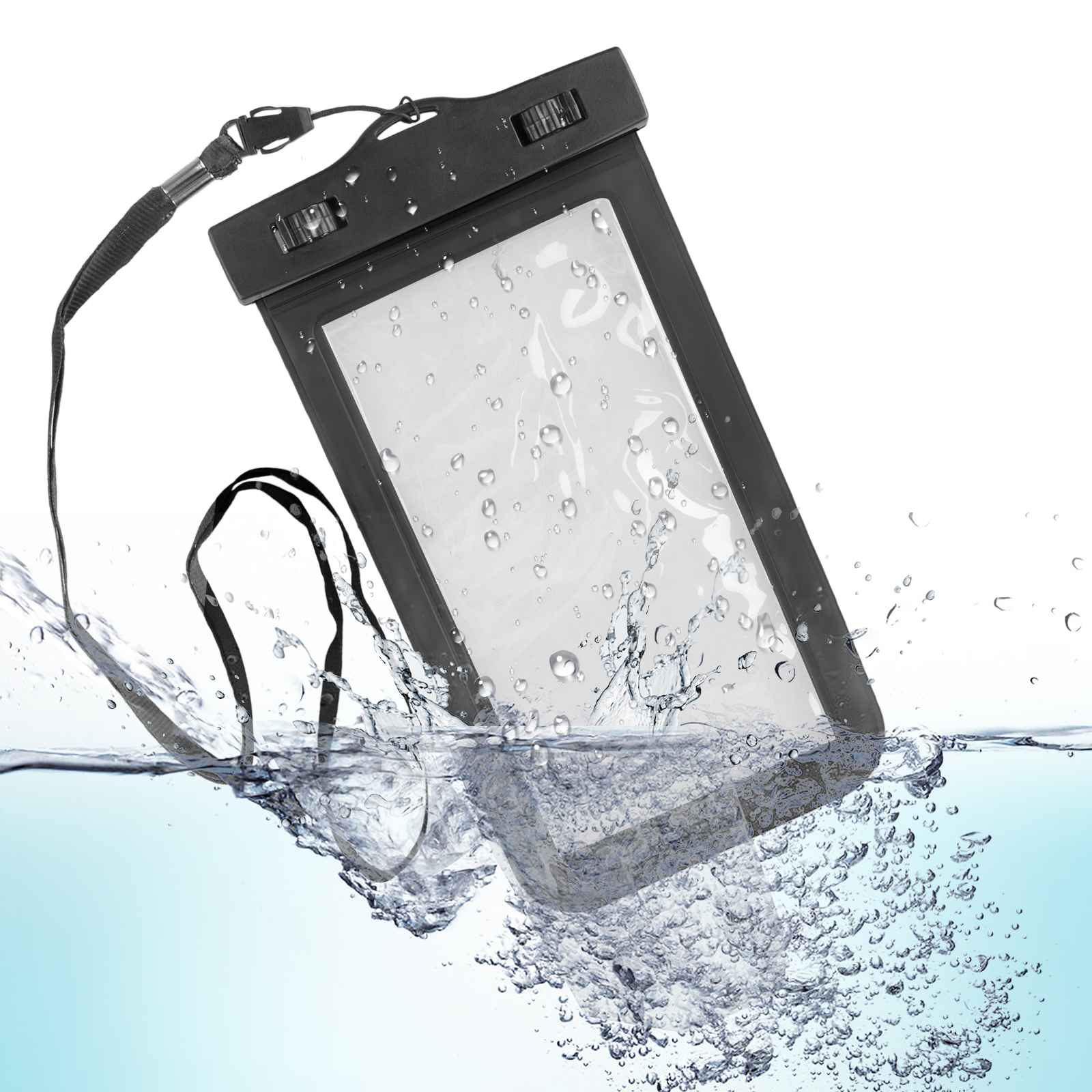 """Universal Waterproof Case, TSV Cellphone Dry Bag Pouch for iPhone X, 8/7/7 Plus/6S/6/6S Plus, Samsung Galaxy S9/S9 Plus/S8/S8 Plus/Note 8 6 5 4, Google Pixel 2 HTC LG Sony MOTO up to 6.2"""""""