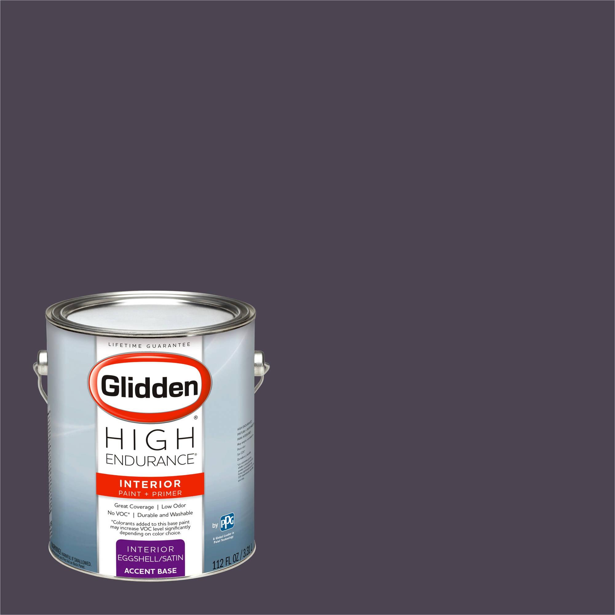 Glidden High Endurance, Interior Paint and Primer, Black Amethyst, # 30RB 07/071