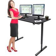 OTVIAP Adjustable Desk, Standing Desk, Adjustable Height Stand up Desk with Dual Surface Adjustable Sit to Stand up Desk for Home Office Desk, Black