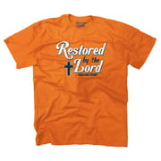Restored By The Lord Christian T Shirt | Religious Gift Jesus T-Shirt Tee