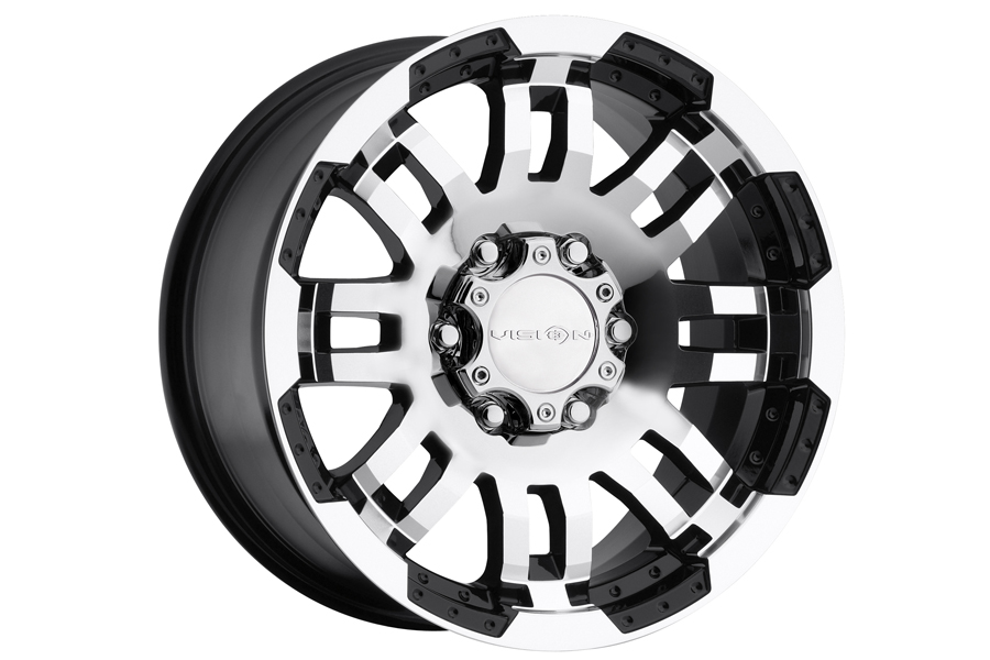 Vision 413 Valor Gloss Black Machined Face Wheel with Machined Finish 15x7.5//6x139.7mm