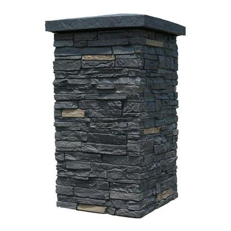 NextStone™ Faux Polyurethane Stone Column Wrap - Onyx (Stone Exterior Siding)