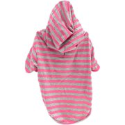 Stellar Pet Boutique Magenta Striped Hoodie-Extra Small