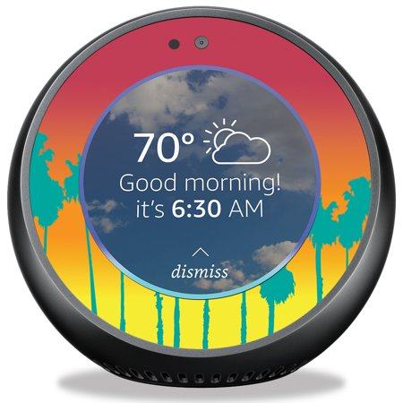 Skin For Amazon Echo Spot   Sherbet Palms  Mightyskins Protective  Durable  And Unique Vinyl Decal Wrap Cover   Easy To Apply  Remove  And Change Styles   Made In The Usa