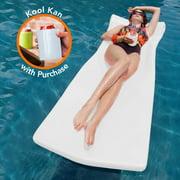 Texas Recreation Foam Super-Soft Kool Pool Float, White