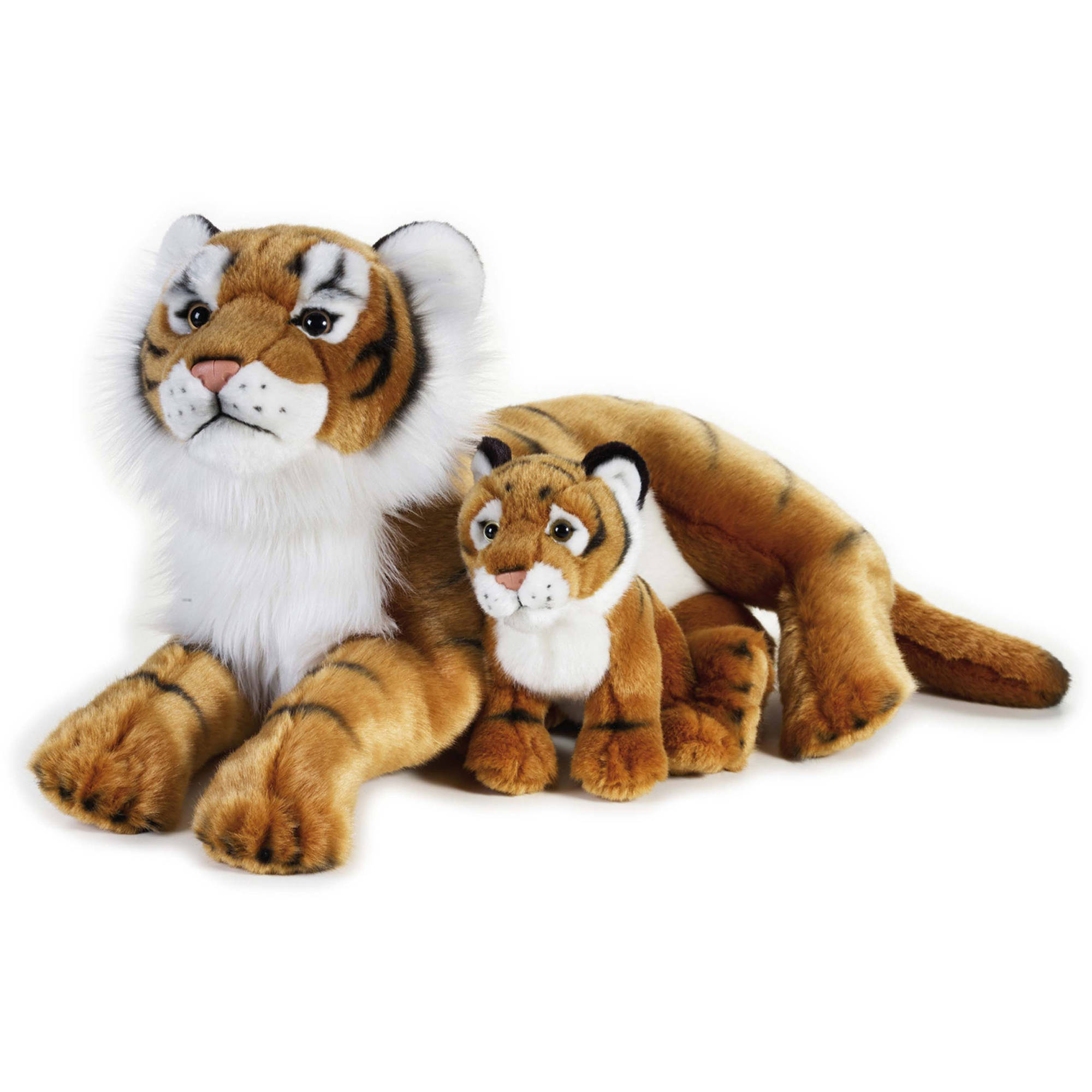 Lelly National Geographic Plush, Tiger with Baby by Venturelli