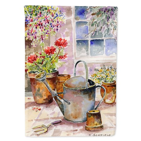 Watering Can Flowers Garden Flag - Flowers Garden Flag