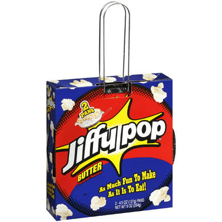 Jiffy Pop Butter Flavored Popcorn 2 Ct Walmart