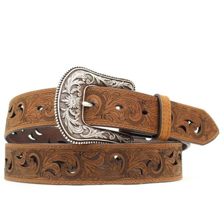 Ariat Western Belt Womens Scroll Paisley Print Cut Out Brown A1514802