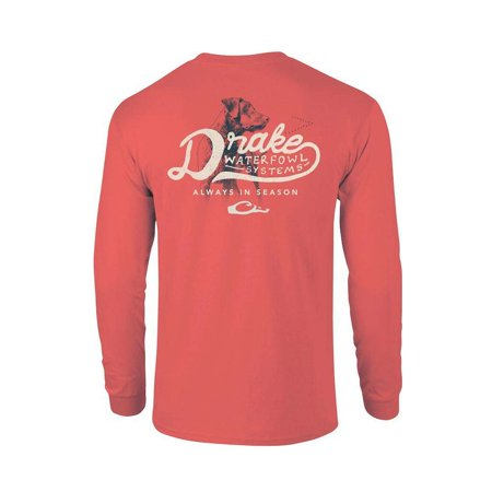 91265c720cdd92 drake-clothing-company - drake in season long sleeve t-shirt bright salmon  m - Walmart.com