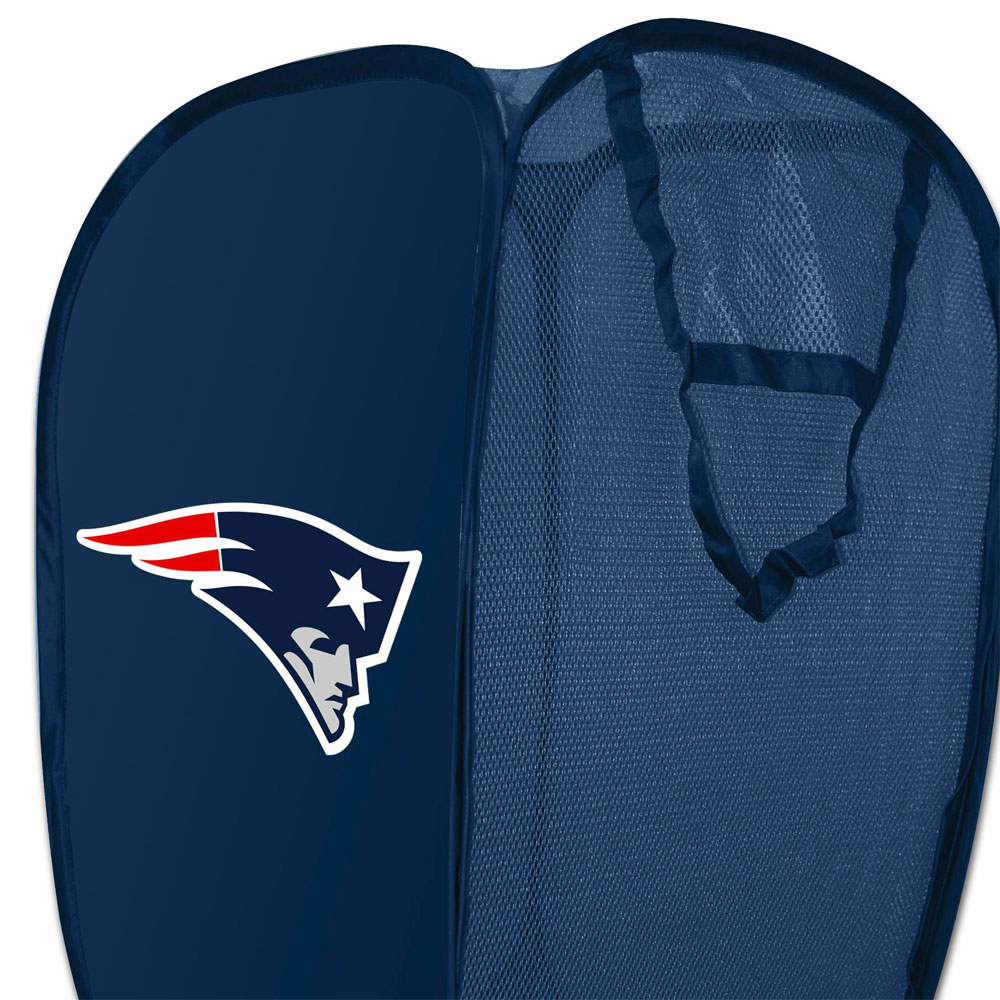 NFL New England Patriots Hamper Football Team Logo Pop-Up Laundry Basket
