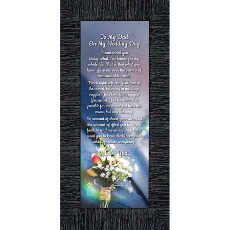 To My Dad on My Wedding Day, Father of the Bride Gifts, Daddy Picture Frame From Daughter, 6x12 - Diy Wedding Gift