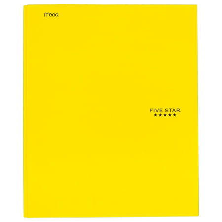 Five Star Pocket and Prong Paper Folder, Yellow (34567)