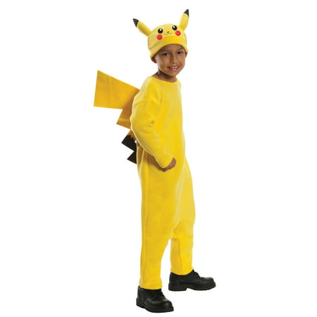Pokemon Pikachu Child Halloween Costume (Yellow Raincoat Halloween Costume)
