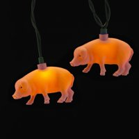 Kurt S. Adler 10ct Mini Pig Novelty String Lights - 10' Green Wire