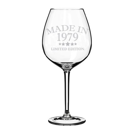 Wine Glass Goblet Made In 1979 40th Birthday (20 oz Jumbo) (Jumbo Wine Glasses Centerpieces)