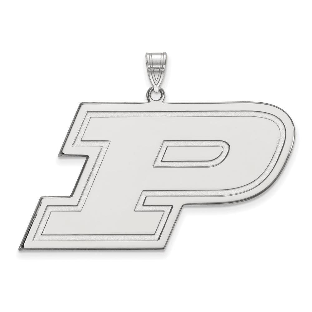 Purdue Extra Large (1 Inch) Pendant (10k White Gold)