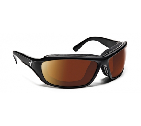 Image of 7 Eye Air Shield Derby Sunglasses, SharpView Copper Lens, Matte Black Frame,M-XL 2
