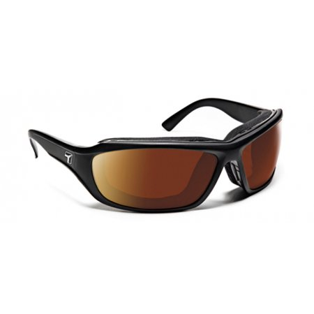 Image of 7 Eye Air Shield Derby Sunglasses, SharpView Copper Lens, Matte Black Frame,M-XL 2