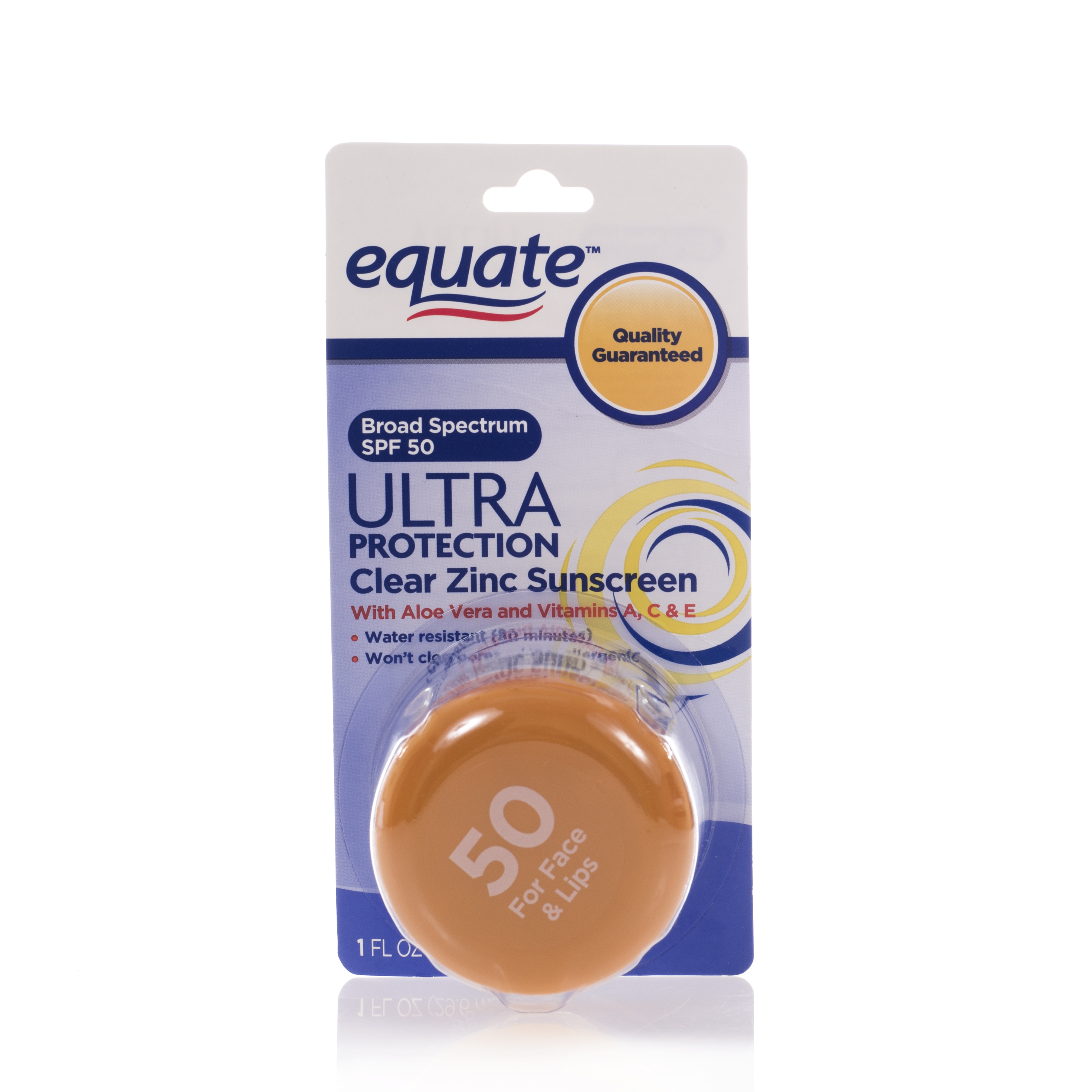 Equate Ultra Spectrum Clear Zinc Sunscreen For Face & Lips, SPF 50
