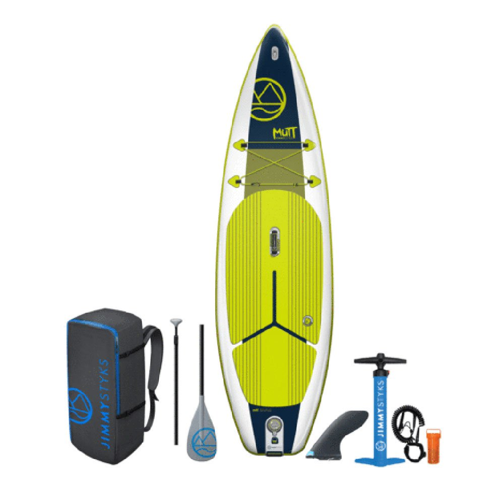 Jimmy Styks Mutt Inflatable SUP Stand Up Beginner Paddle Board w/ Pump, Green