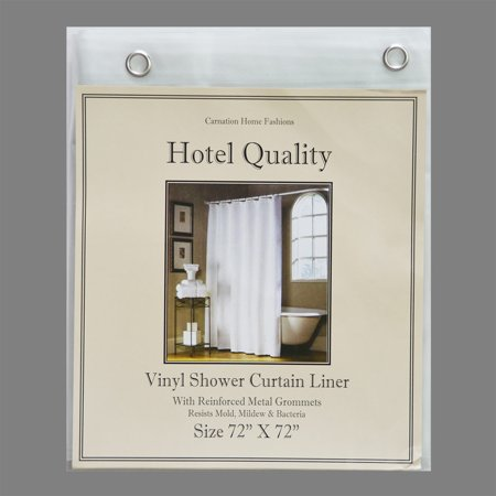 Frosted Clear Vinyl Shower Curtain Liner Hotel Weight 8 Gauge Metal Grommets 72x72