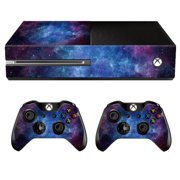 Nebula Protective Vinyl Skin Decal Cover Set for Xbox One Console & 2 Controller Wrap Sticker Skins