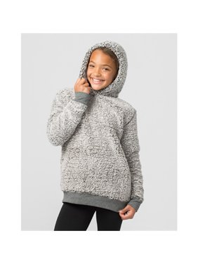 Boxercraft YQ15FGR Youth Sherpa Hoodie Pullover,Frosty Grey,M