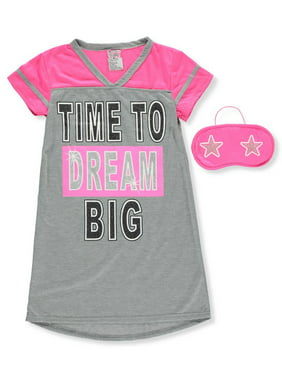 Girls' Nightgown with Sleep Mask