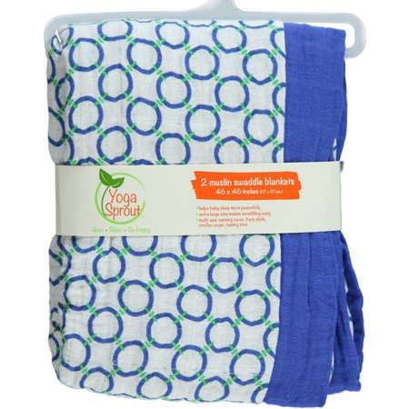 Walmart Swaddle Blankets Gorgeous Yoga Sprout 60pk Muslin Swaddle Blankets Blue Walmart