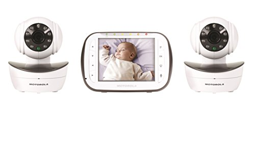 Motorola Digital Video Baby Monitor with 2 Cameras, 3.5 Inch Color Video Screen, Infrared Night Vision, with... by Motorola