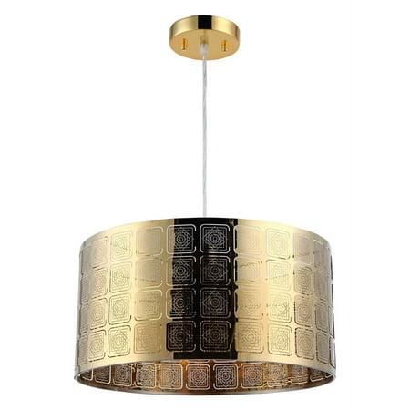 CHLOE Lighting SIERRA Farmhouse 1 Light Gold Ceiling Pendant 15