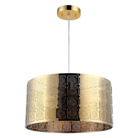 "CHLOE Lighting SIERRA Farmhouse 1 Light Gold Ceiling Pendant 15"" Wide"