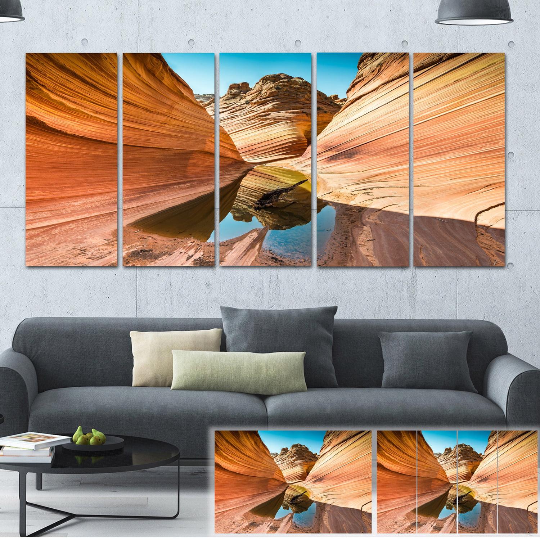 Design Art Designart Water Inside Arizona Wave Landscape Photo Canvas Print Brown Walmart Com