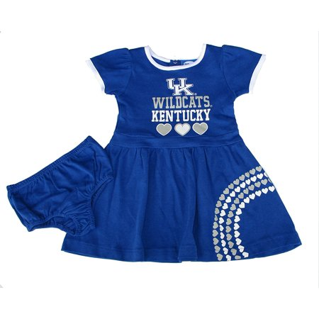 Kentucky Wildcats Infant Girls Size (2T) NCAA Authentic Dress Skirt Costume w/ Bloomers 2-Piece Set - Toddler Team Colors, Kentucky Wildcats Dress.., By NCAA Authentic - Wildcat Costumes