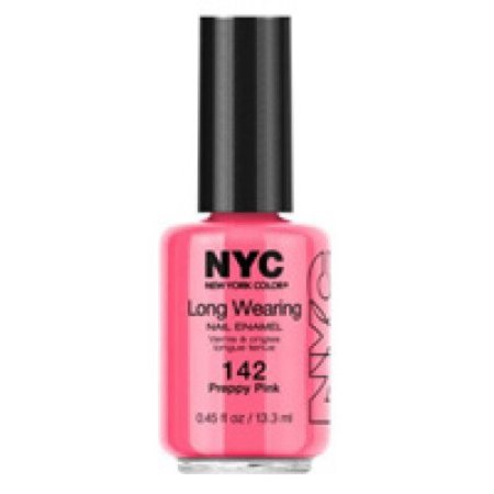 NYC New York Color Long-Wearing Nail Enamel, 142 Preppy Pink, 0.45 fl oz