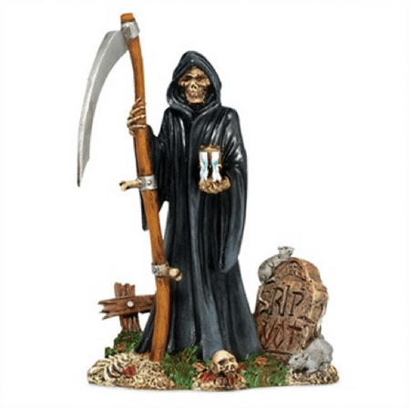 Department 56 Halloween Village the Grim Reaper - Village Halloween Parade 2017
