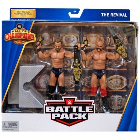 WWE Wrestling Hall of Champions The Revival Action Figure 2-Pack (Revival Best Accessory Pack)