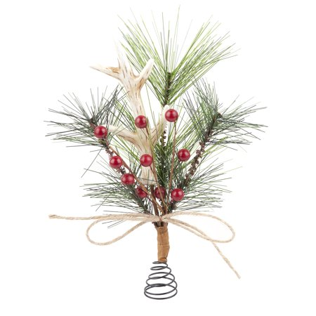 holiday time antler mini tree topper - Mini Christmas Tree Topper