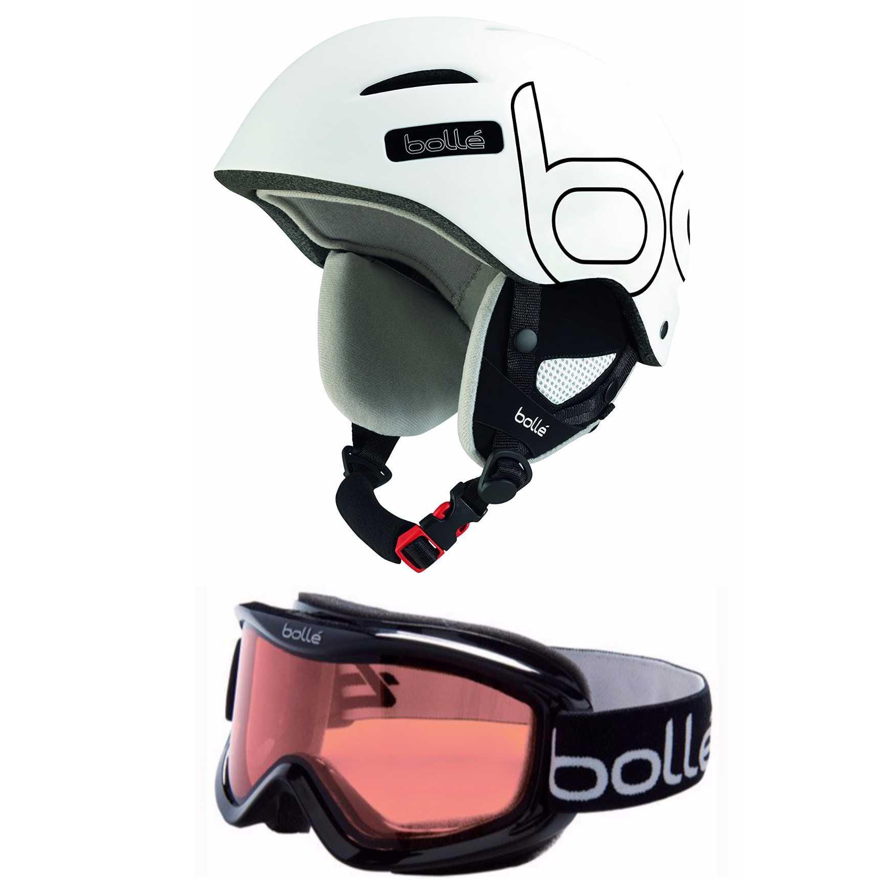 Bolle B-Style Ski Snow Helmet (54-58 cm, Black White) & 20571 Mojo Ski Goggles by Bolle