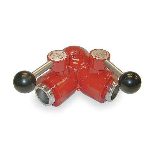 2 NPSH Male 1-1//2 Outlets NH Female 2-1//2 Inlet Two-Piece Moon 430-2521514 Wye Aluminum Ball Valve with Leader Line