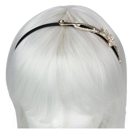 aa46a82e129 Women s Handmade Crystal Rhinestone Flower Headband Hair Band Retro Boho -  Walmart.com