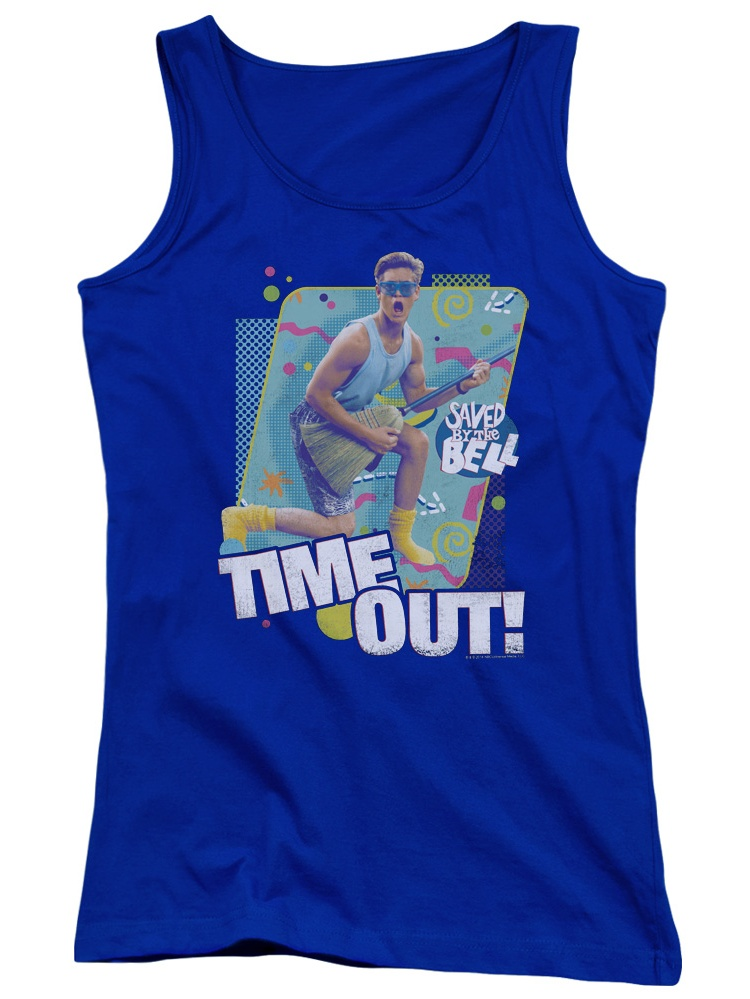 Saved by the Bell Zack Time Out TV Show Distressed Juniors Tank Top Shirt