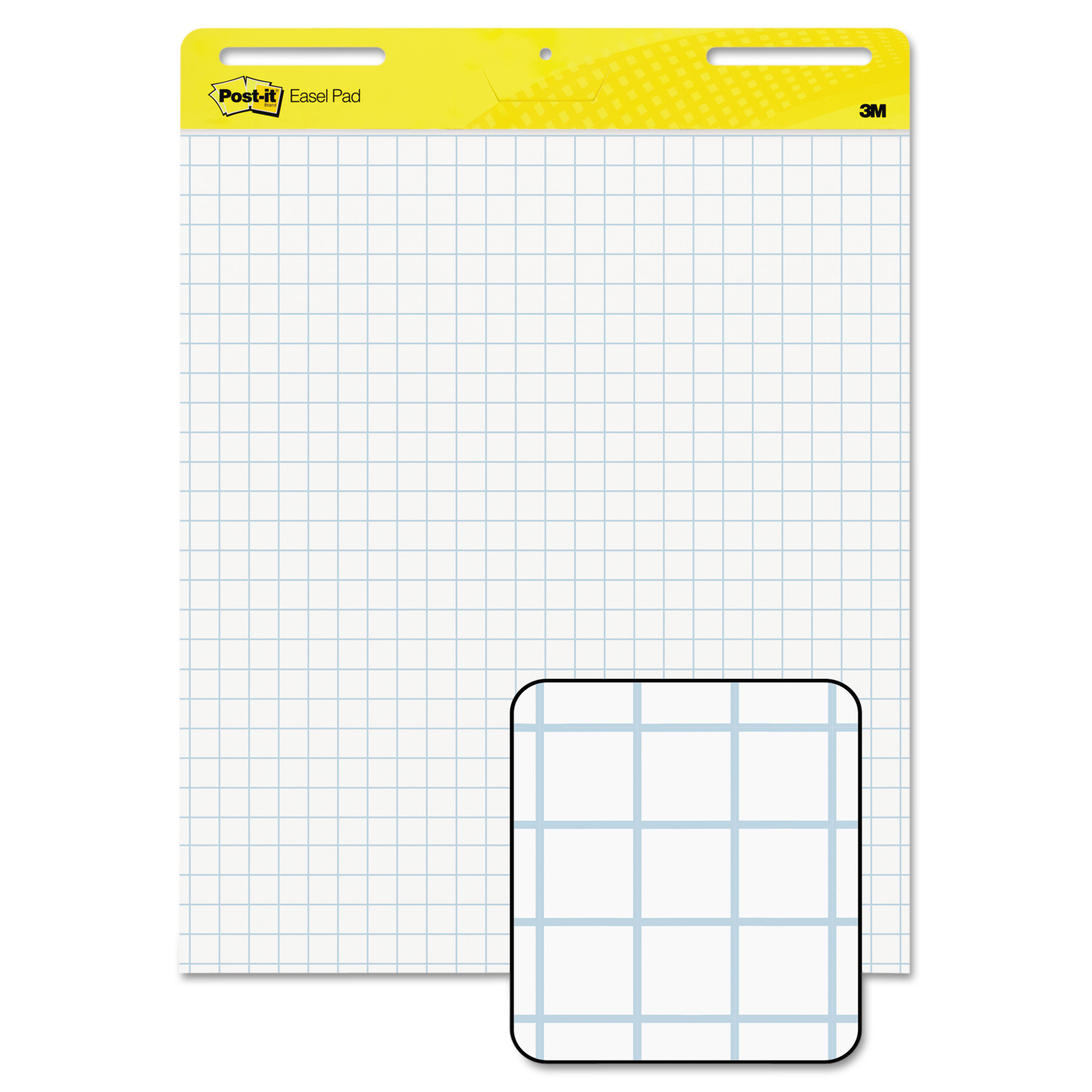Post-it Self-Stick Easel Pads, White with Grid, 25 x 30-Inches, 30-Sheets/Pad, 2-Pads/Pack