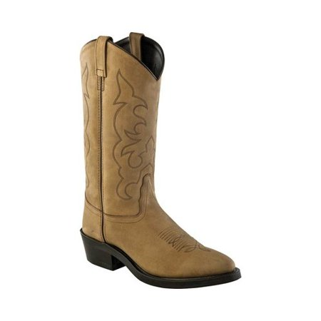 Men's Old West Narrow Round Toe Cowboy Work Boot (Cinch Cowboy Boots Womens)